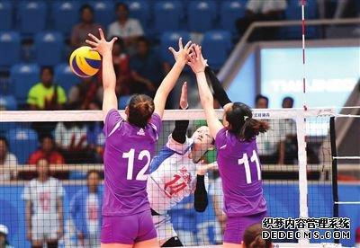 全运成年女排比赛第二日天津0比3难撼浙江