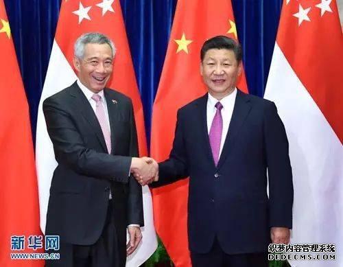 2017年9月20日,,国家主席习近平在人民大会堂会见来华进行正式访问的新加坡总理李显龙。