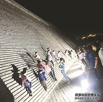 """河北正定古城墙成""""赤月传说私服发布网攀岩墙"""" 正申报世界文化遗产"""