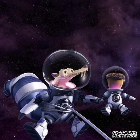 《冰川时代:星际碰撞》小松鼠和松果在太空