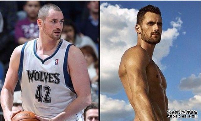NBA球员减重多夸张?詹皇变满身精肉,湖人悍将肚腩变八块腹肌!